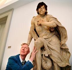 Herr Seele met zijn leermeester, Kamagurka.