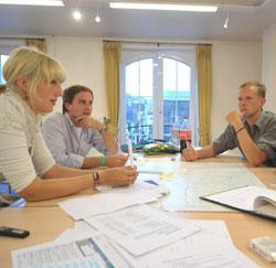 Brainstormen met collega's