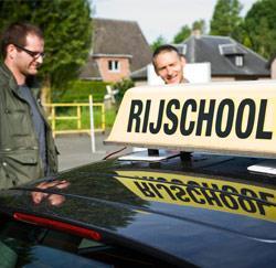 Reporter Wim op stap met rij-instructeur Pascal Van Bogaert.