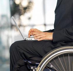Werken in een rolstoel