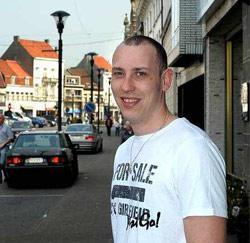 Sam Meganck (24) uit Lokeren, ploegarbeider