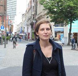 Inge Stouffs (35) uit Antwerpen, lector