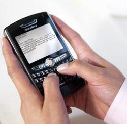 Opgelet met een Blackberry!