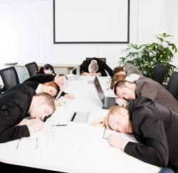 Een saaie meeting?