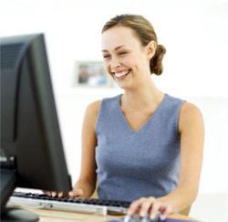 Vrouw is fan van sociale netwerksites