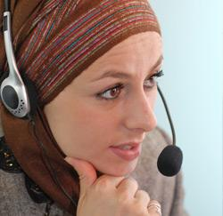 hoofddoek op het werk
