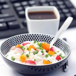 Ontbijten op het werk