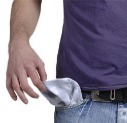 platzak met schulden