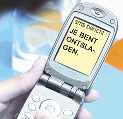 ontslag per sms