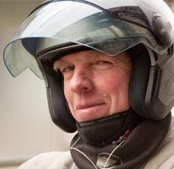 Jacques Daems, coursier en scooter indépendant à Bruxelles