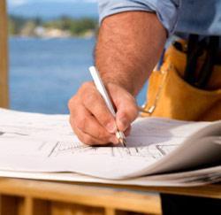 Een aannemer in de bouw
