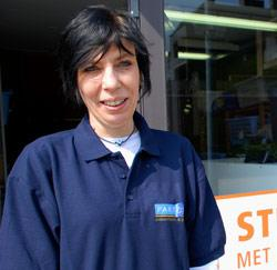 Strijkwinkel verantwoordelijke Veronique Van den Bremt uit Aalst