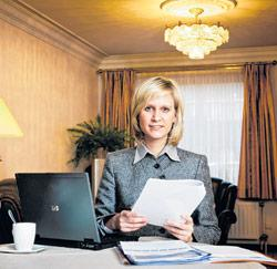 Ann Van Landeghem werkt van thuis