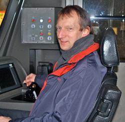 Metrobestuurder Peter Maes