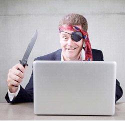 Is jouw baas een piraat?