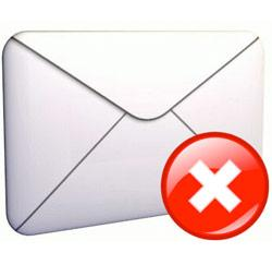 Erreurs d'email