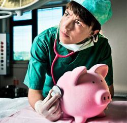 Het loon in de zorgsector