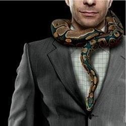 psychopaat met slang