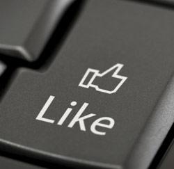 facebook like laptop