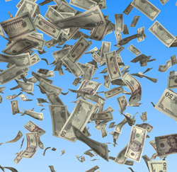 Geld in de lucht