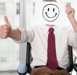 Gelukkige werknemer