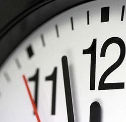 altijd op tijd klok