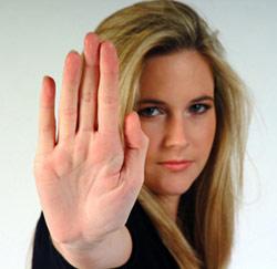 assertief, nee zeggen, stop