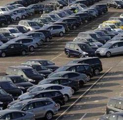 bedrijfswagens parking