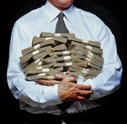bankier met geld