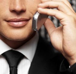businessman bellen