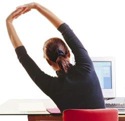 beweging op bureau