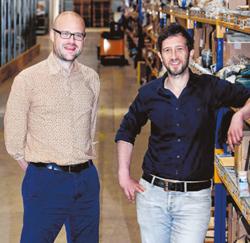 Koen Vanderweyden en Daniel Ciccodemarco van BME