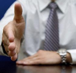 boss handshake