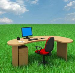bureau au soleil