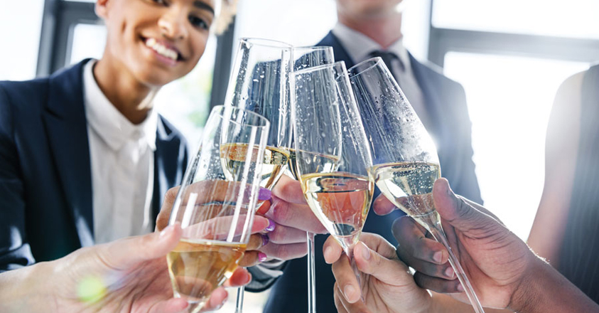champagne op de werkvloer