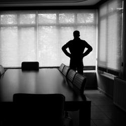 Eenzame werknemer