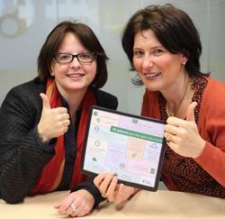Veerle Beyaert & Ingeborg Vijgen van de Nationale Loterij