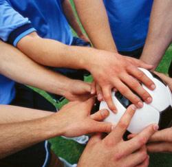Un sport d'équipe.