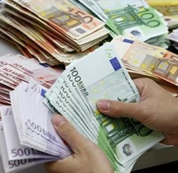 euros in handen