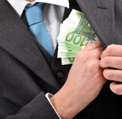 Geld wegsteken