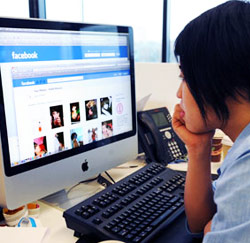 Facebook op kantoor