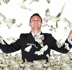 geld in de lucht gooien