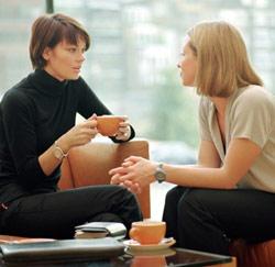 gesprek collega's