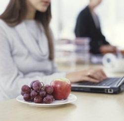 gezonde snack laptop