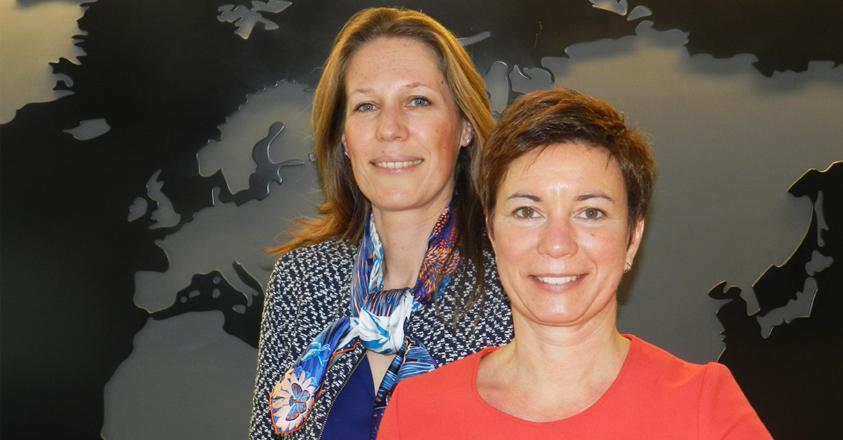 Sandra Hoeylaerts en Gwendolien Fonck