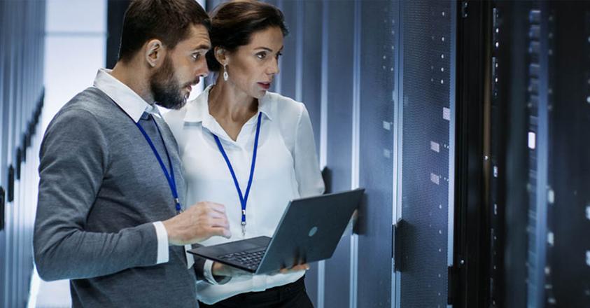 ICT'ers aan het werk