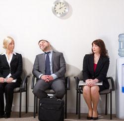 job interview slapen
