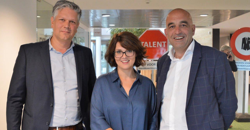 Erwin De bruyn van Stebo, Tinne Lommelen van VDAB Limburg en Kris Claes van Voka Limburg
