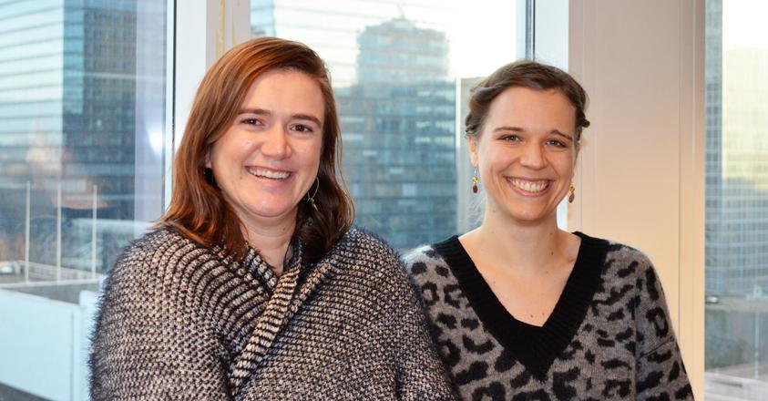 VREG-collega's Karolien Verhaegen en Pauline Ottoy