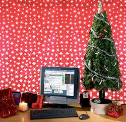 kerstmis op kantoor